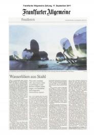 news_Frankfurter Allgemeine Zeitung_Wasserlilien Aus Stahl